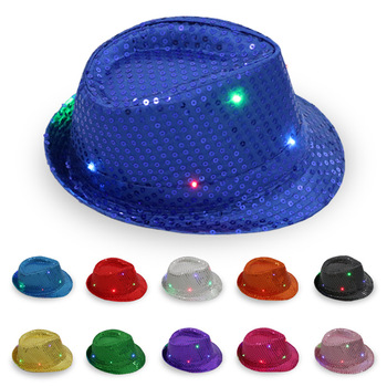 oempromo colorful light up christmas dancing cowboy party hat