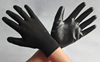 Nylon knitted black nitrile gloves coated with nitrile palm