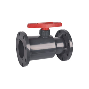 China UPVC Plastic Bodily Form Double Flange Type Ball Valve