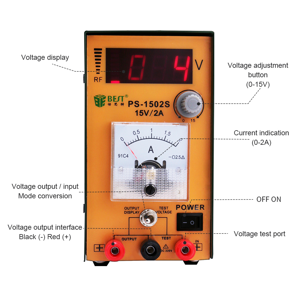 Precision Power Supply 0 40v 0 2a Adjustable Current Limiting