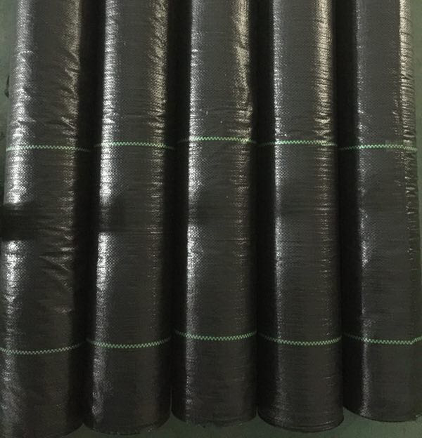 Dark Weed Barrier Fabric Agricultural black Plastic mat Ground Cover