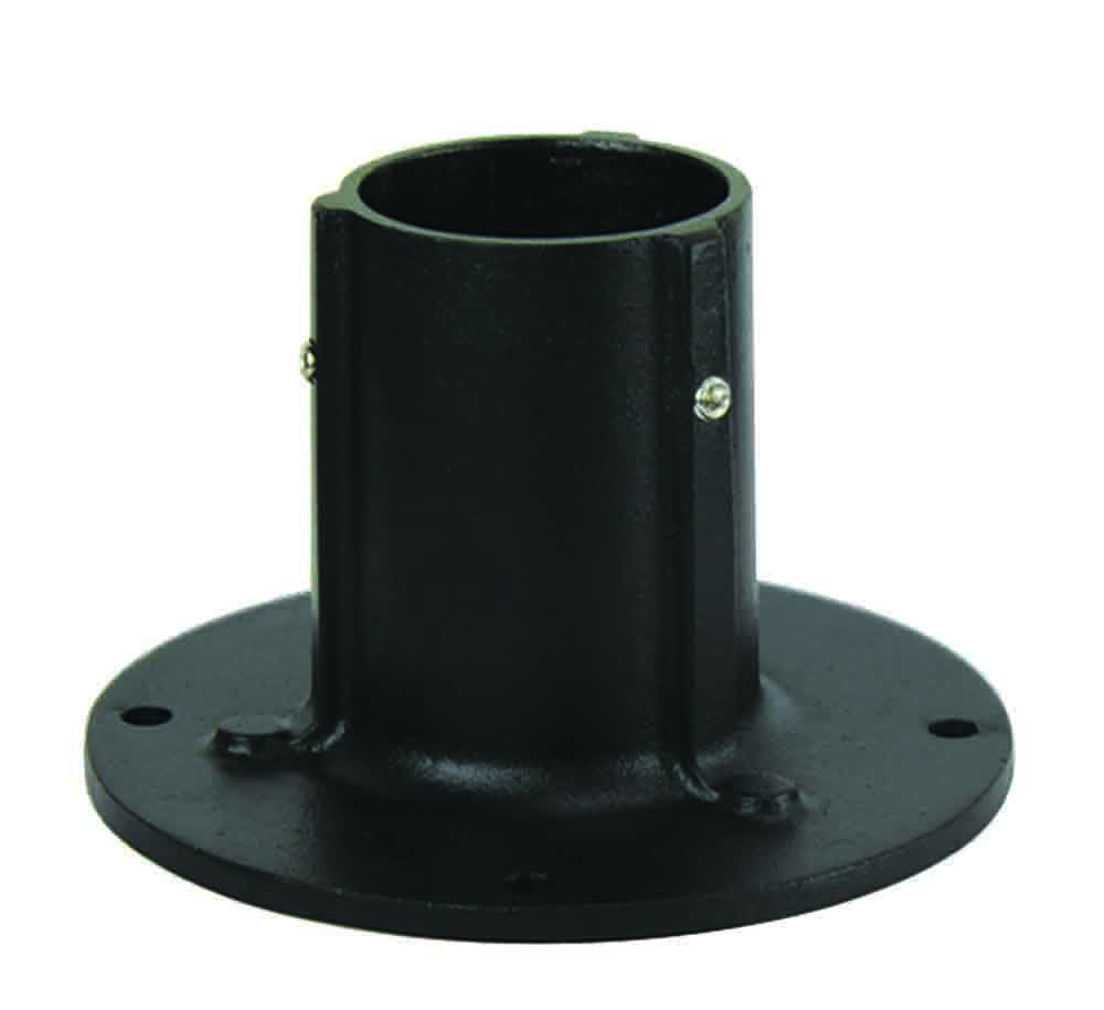 "Solo Lights, Die Cast Aluminum Stand for 3"" Surface Mount Post. Flange Base With Anchor Bolts Included"