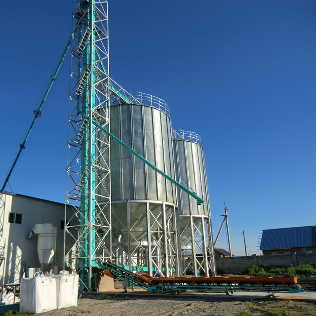 Shandong 250t hopper bottom silo for farm with factory price