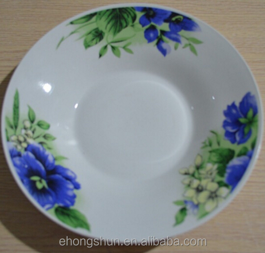 Porcelain Flat Plate Side Plate with Custom Design for Promtoion Fruit Plate