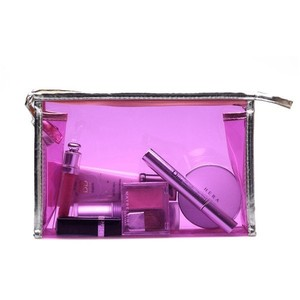 2018 korean fashion waterproof plastic Makeup Pouches colorful clear pvc cosmetic bag