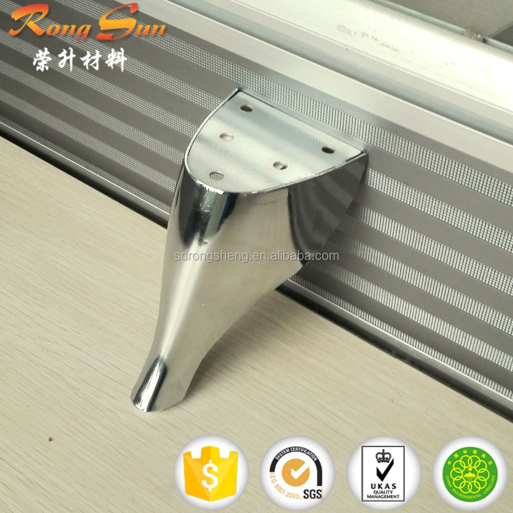 Home furniture sofa leg & Chrome plated stainless metal furniture feet with best price