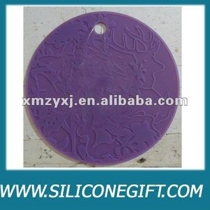 silicone rubber drink/wine glass coasters/pot holder/mat/pad