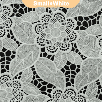 Custom fashion lace embroidery fabric with holes