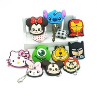 Cover Caps Minnie Key Chains Anime Keychain Silicone Stitch Car Keychain The Avengers