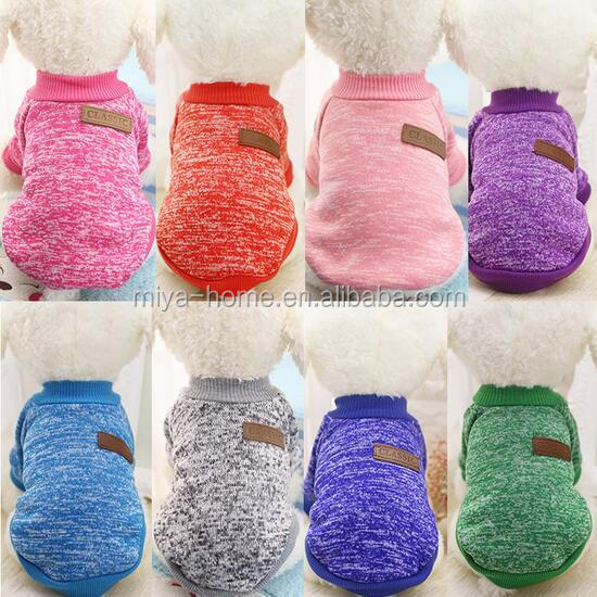 High quality Eleven color optional classic fashion sweater clothing sweater pet dog cat clothes new autumn and winter models