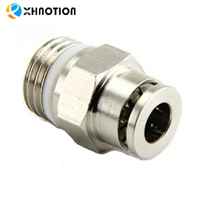 "XHnotion Air 1/4 ""Npt Messing Push to Connect Straight Pneumatische Montage voor 1/4"" OD Slang"