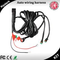 Automotive 12V custom car wiring harness universal male-female wiring harness plug connectors