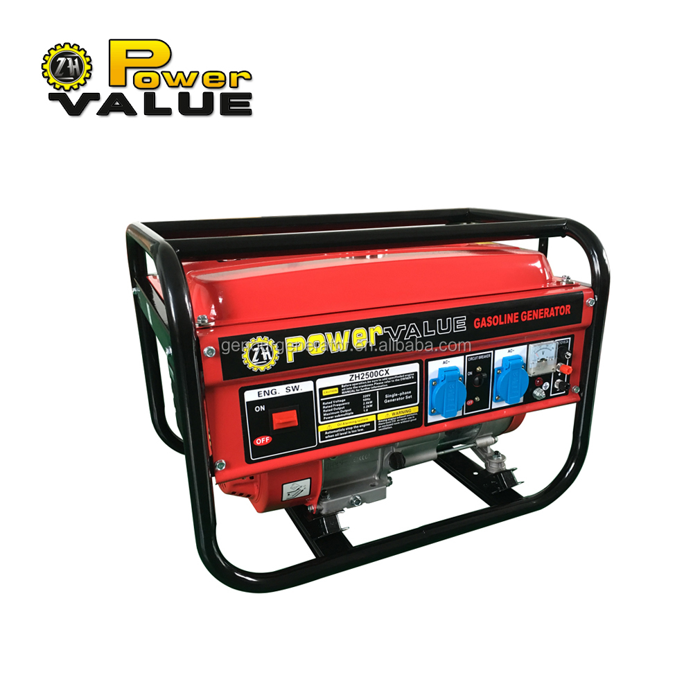 Power Value 2kw 2000 watt gasoline generator ohv 5.5hp with good price in India market