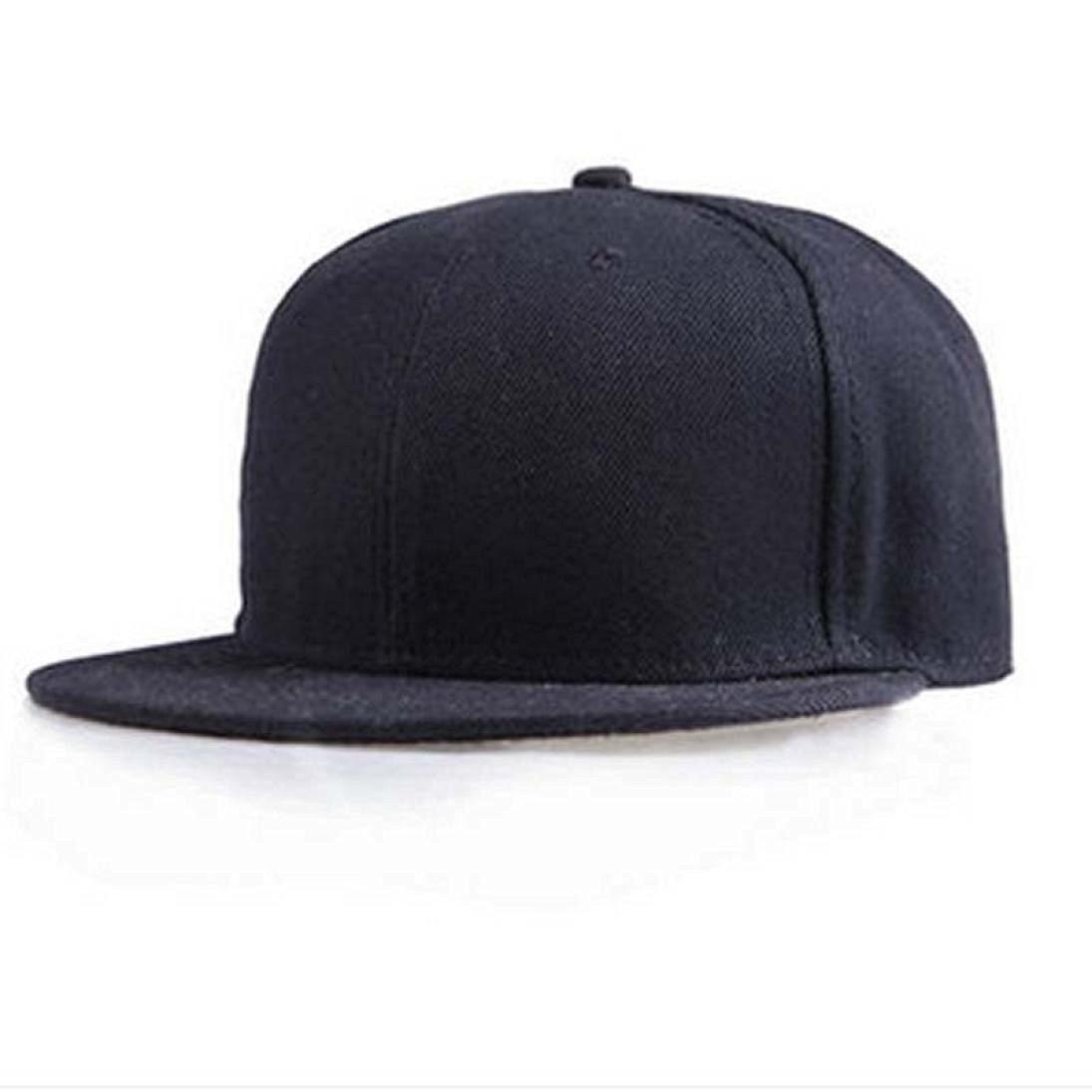 ac2eb84facf6c0 Get Quotations · Gotd Baseball Cap Fashion Unisex Plain Snapback Hats  Hip-Hop Adjustable Baseball Cap Solid Color