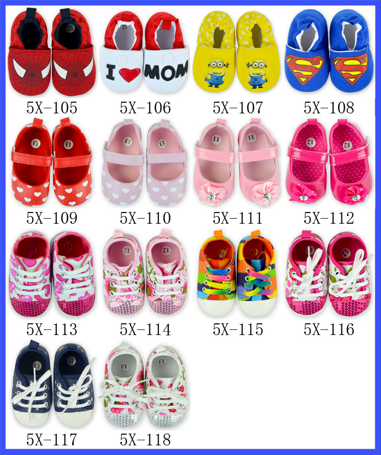 Super Man Cute Carton Fancy Baby Girl Boy Shoes Kids Wholesale Cotton Fabric Baby Shoes