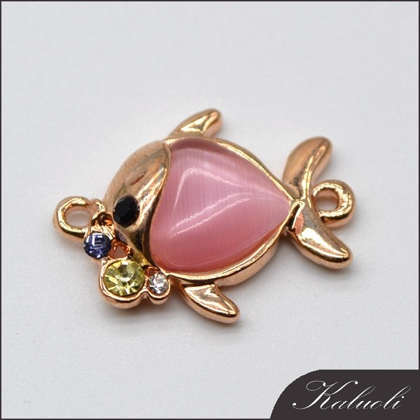Latest design fish shape bracelet zinc alloy jewelry findings