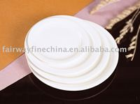 Bone china / porcelain dining ware super white dinner set hotel ware, dishes dinner set/round table