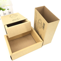 Hot new products eco-friendly recycled sliding kraft paper drawer box