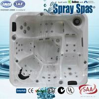 New arrival whirlpool tubs M-373D outdoor hot tub ,two lounges spa for 2012!