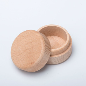 Round Wooden Jewelry Container Ring Organizer Earrings Box Gift Boxes Packaging Accessories