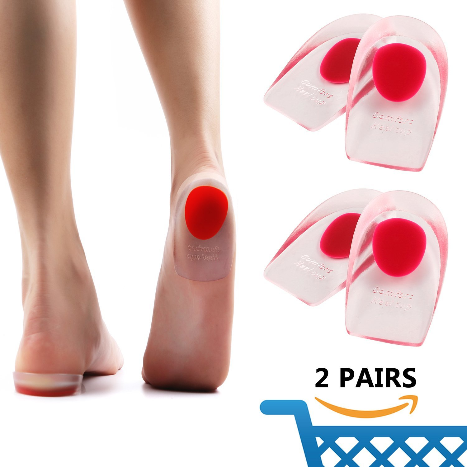 Novelty & Special Use Reasonable Footful Heel Support Pad Gel Silicone Cushion Shock Orthotic Insole Female