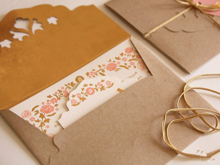 Rustic Leaves Shape Laser Cut Wedding Invitation Burlap Card ...