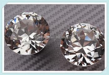 Diamant Vorm Kristal Glas Lade Kast Knoppen En Handgrepen Keuken Deur Kledingkast Hardware Buy Meubels Handvatdiamant Knoppencrystal Knop Product