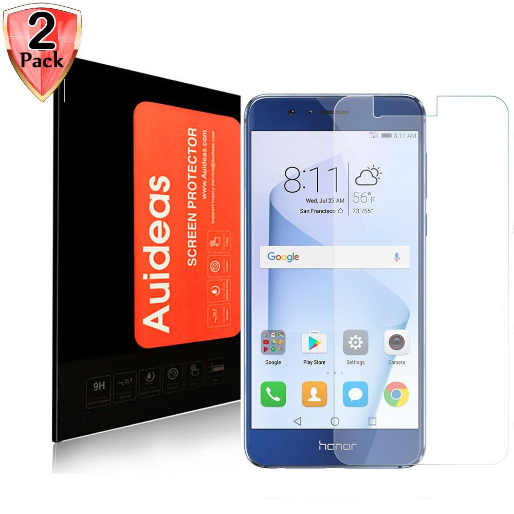 Huawei Honor 8 Screen Protector,Auideas Huawei Honor 8 Screen Protector Tempered Glass Screen Protector for Huawei Honor 8 Screen Protector [2-Pack]