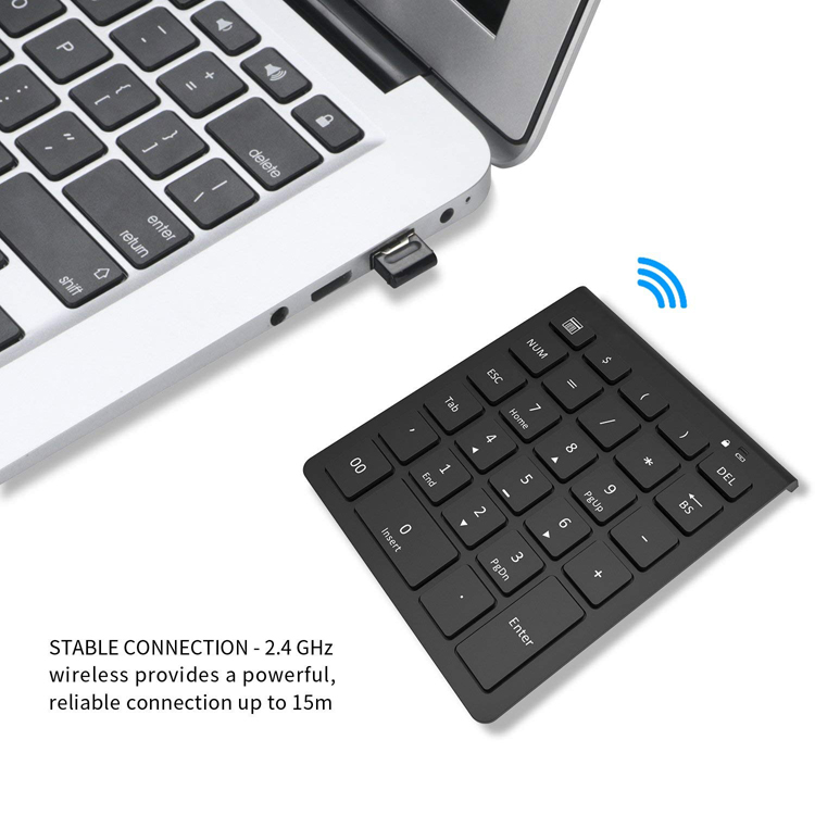 2.4g wireless keyboard number pad