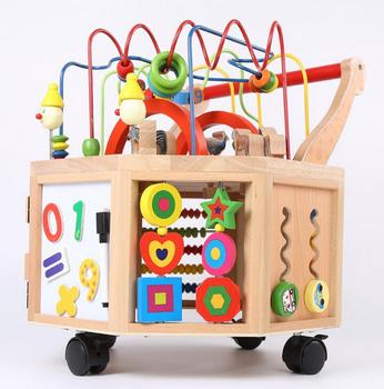 Children Toys New 2016 Style Wooden Wheeled Activity Cubes Bead Educational Toys View Kids Wooden Activity Cube Toy Product Details From Guangzhou