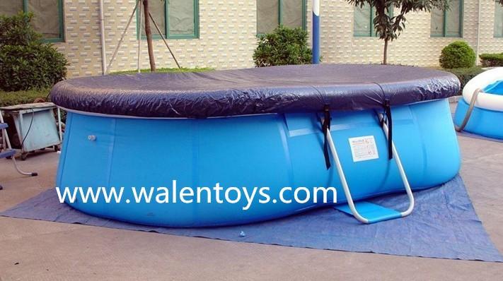 Oval conjunto r pida cobertura da piscina solar para for Piscine portable