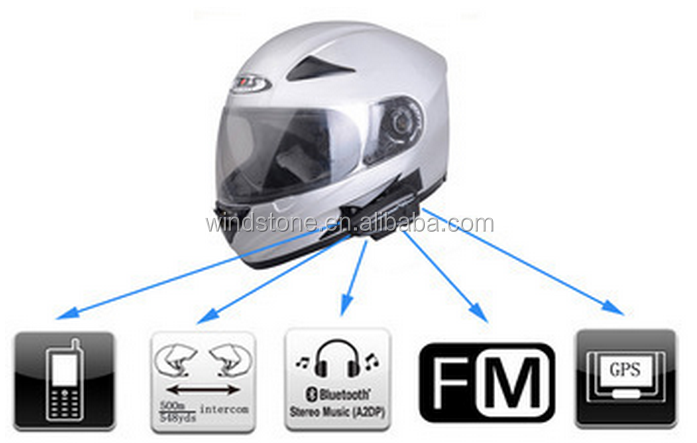 Moto Communication Systems Motorcycle Bluetooth Helmet Intercom