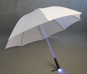 blade runner light led flash clear led umbrella with torch