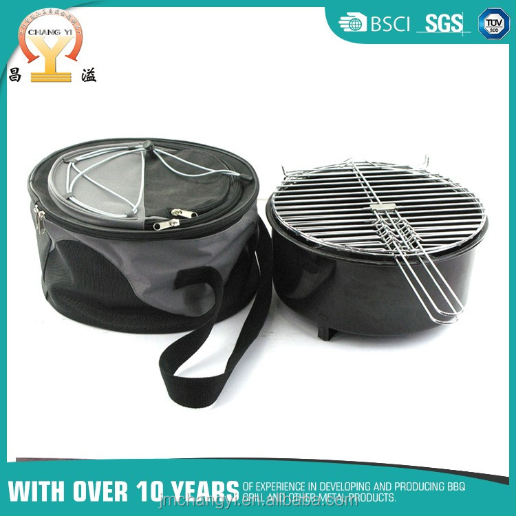 China manufacturer durable cooler bag 2 in 1outdoor bbq grill small size barbecue grill