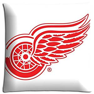 Fabric Attractive Sofa Pillow Covers Cases nhl Detroit Red Wings Cotton / Polyester Zippered 16x16 inch 40x40 cm