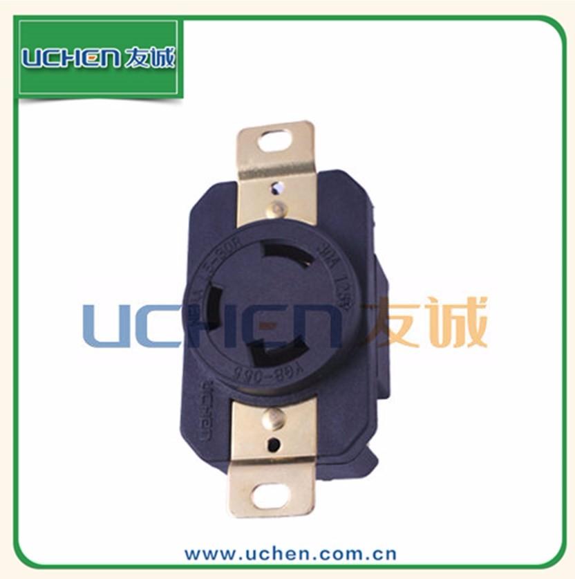 plugs & sockets NEMA L5-30R YGB-055 2 phase male female plug socket