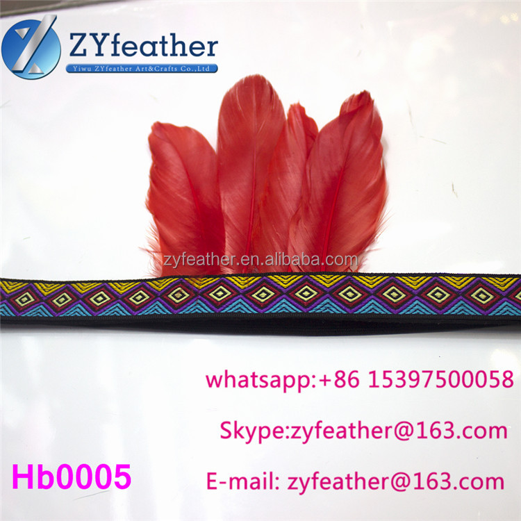 Top selling dance costumes cheap price Handmade feather carnival indian headdress