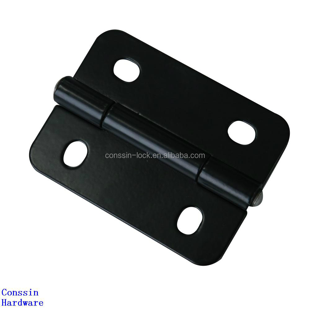 Black coated generator canopy butt hinge