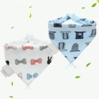 cotton 10-pack baby bandana drool bibs