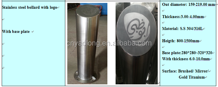 wholesale stainless steel decorative bollards/bollard cover/pipe