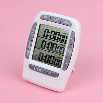 99H 59M 59S sports education 3 Group LCD clock timer, laboratories Triple Channel Bench Timer