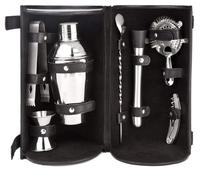 7 Piece Cocktail Bar Tool Set with Canvas Carry Bag
