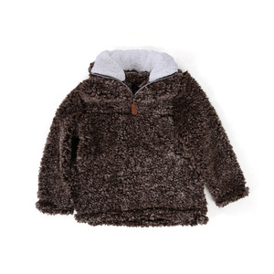 Fleece Tipped Pile Kids True Grit Pullover