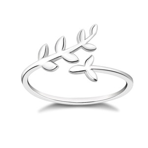 Leaf Jewelry 925 Sterling Silver Olive Leaf Ring Wholesale & Customize Available