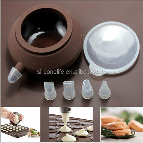 Macaron/Chocolate/Cake making Easy Squeeze Silicone Decorating Cake Pen