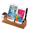 Custom family use wood office gift wood cell phone stand with good quality