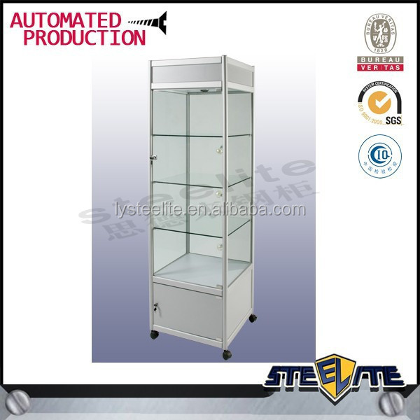 China Glass Sunglass Wall Cabinet Display/Glass Jewelry Display Cabinet/Cosmetic Display Cabinet