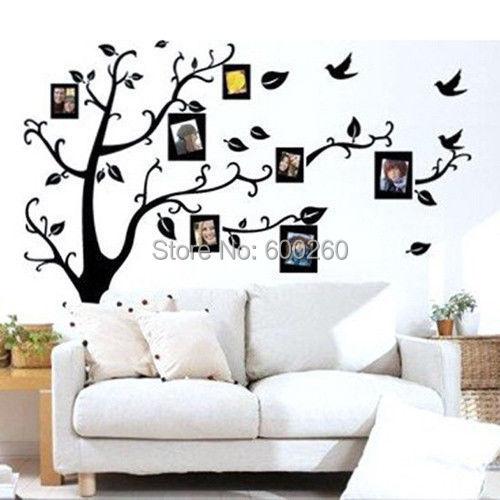1PC Family Tree Wall Decal Remove Wall Stick Photo Tree
