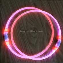 hot selling products new design usb rechargeable pink light up dog collar
