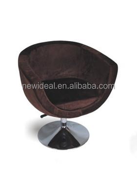 U Shape Fabric Tub Chair / Swivel Chair With Round Metal Base (NS2279)